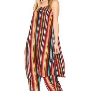 Free People Ruby striped longline tank top blouse